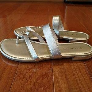 5e1b60568 Talbots Shoes - Talbots Gia Gold Metallic Leather Sandal